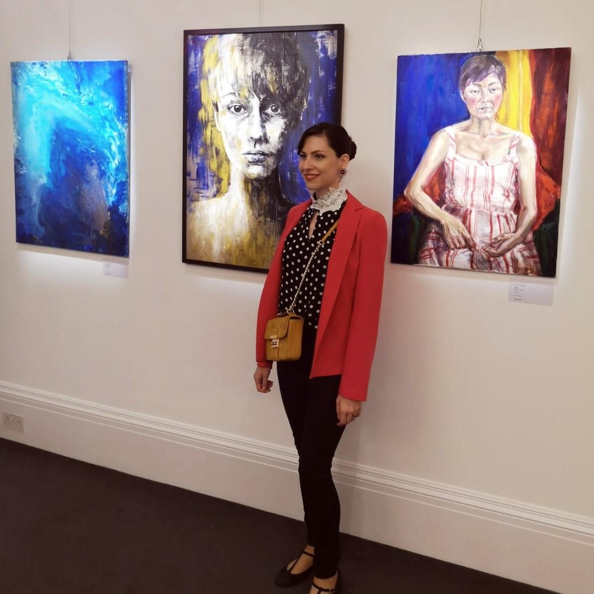 clara niniewski sothebys staff exhibition contemporary painting new bond street london gallery