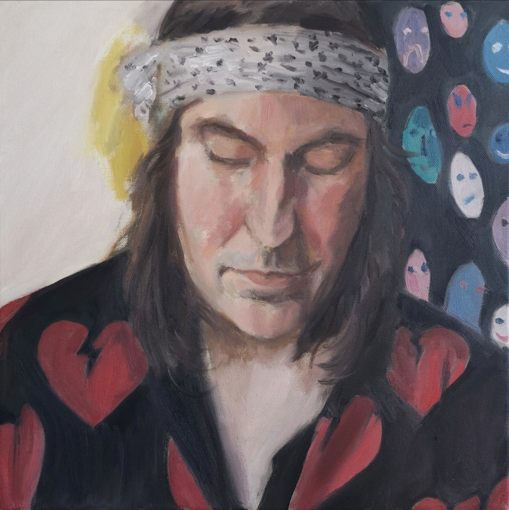 Portrait Painting of British Comedian and TV Presenter Noel Fielding by Clara Niniewski