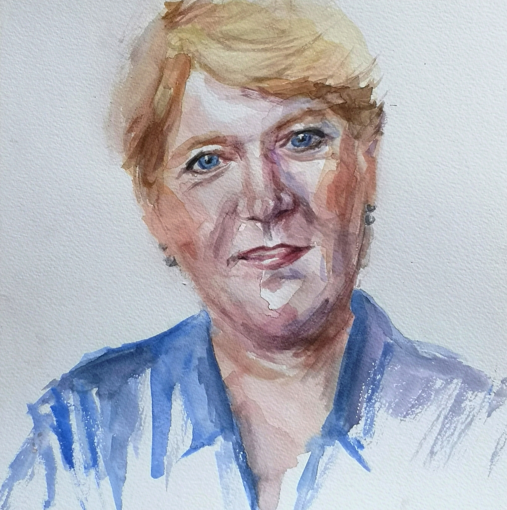 Portrait of Clare Balding by Clara Niniewski for the Portrait Artist of the Week challenge