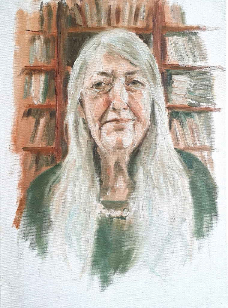 Portrait of Dame Mary Beard by Clara Niniewski for the Portrait Artist of the Week Challenge
