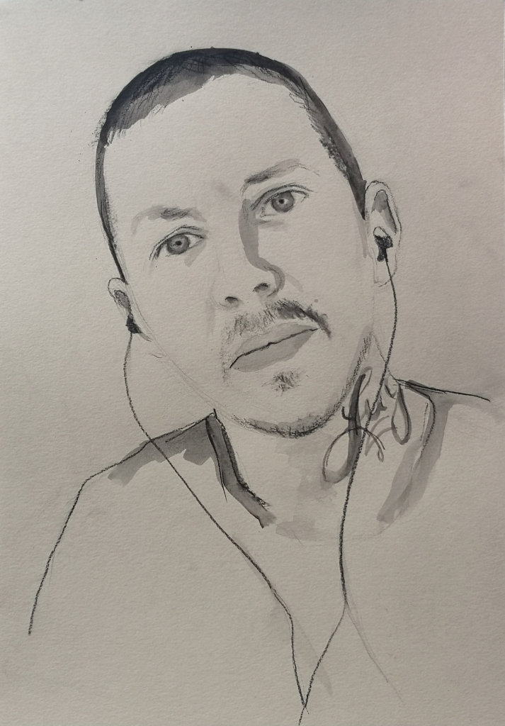 Portrait of Professor Green a.k.a Stephen Manderson by Clara Niniewski for the Portrait Artist of the Week challenge