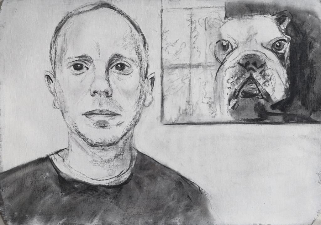 Portrait of Rob Rinder by Clara Niniewski for the Portrait Artist of the Week challenge