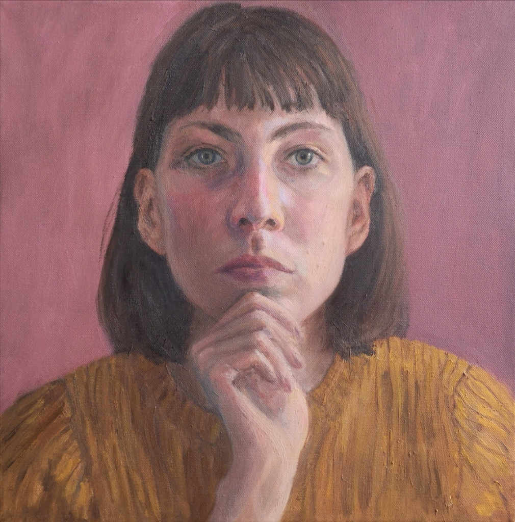 Self Portrait called Reflection by Clara Niniewski painted in oils on canvas