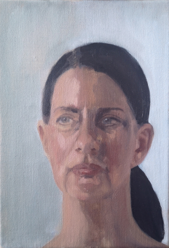Oil Portrait of Carla Borel by Clara Niniewski
